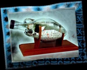 Аква Мир в виде Амфоры. Это автономный аквариум, не требует ухода.